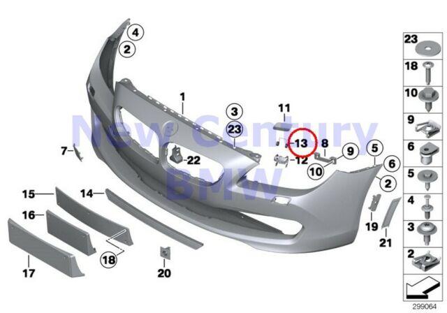 2 X BMW Genuine M Trim Front Trim Cover Front Spring F01 F01N F02 F02N F04 F06 F
