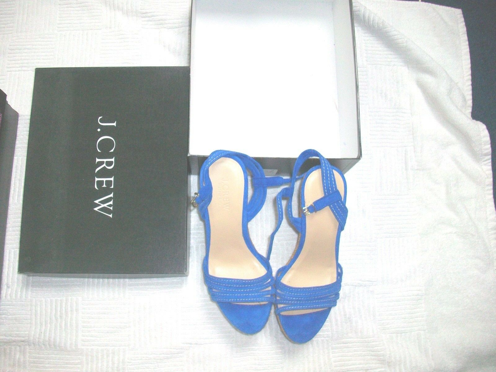 J 7 Crew Royal Blau Dress Platform Heel Schuhes Größe 7 J M 43c4d6
