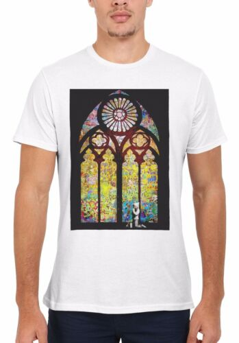 Banksy Stained glass window Graffiti Hommes Femmes Débardeur Tank Top Unisexe T Shirt 1761