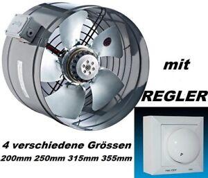Axial-Ventilateur-tubulaire-315-mm-avec-regulateur-de-vitesse-de-5A-Aspiration