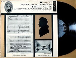 Columbia ML 5012 Mozart REQUIEM MASS Bruno Walter 1956 lp 6-eye MONO