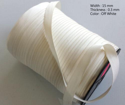 Blanc Cassé 15mm Coton Uni Sangle Doux Ceinture Sangle Sac Robe Artisanat Cordon