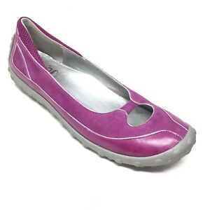 Women-039-s-Nike-Lab-G-Series-Ballet-Flats-Loafers-Shoes-Size-10B-Purple-Leather-AD9