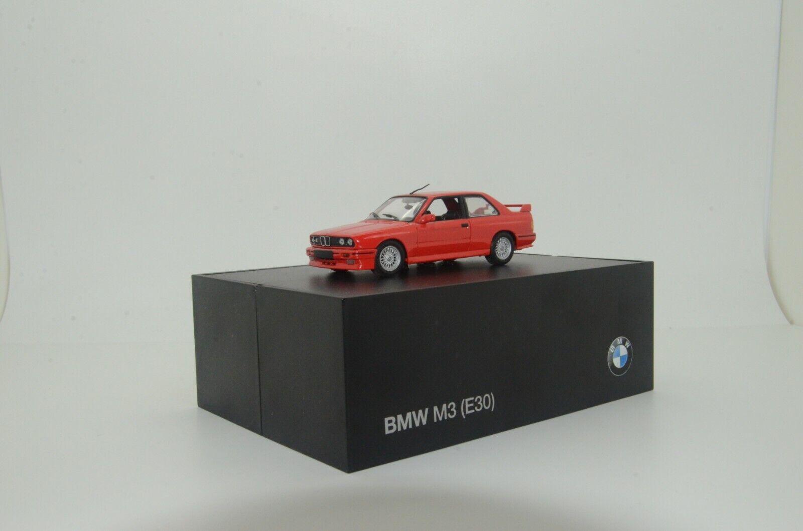 RARE   BMW M3 E30 Street rosso Minichamps Dealer 80420149841 1 43