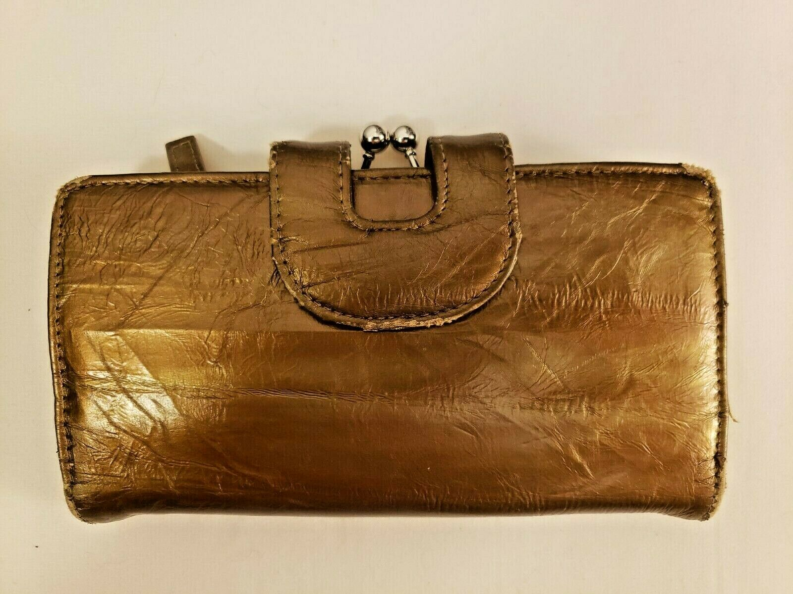 GENUINE EEL SKIN Gold Ladies Wallet - Pre-Owned One Owner Beautiful Condition!