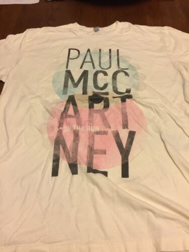 Paul Mccartney On The Run 2011 Concert T-Shirt Size L