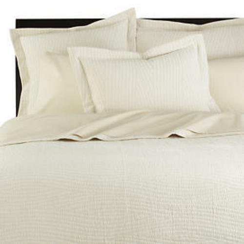Crate & and Barrel ORGANICO WAVE COVERLET- TWIN & St. SHAM- NWOT