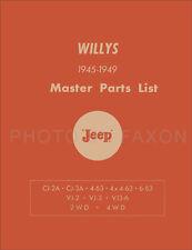 Jeep CJ-2A CJ-3A Parts Book 1945 1946 1947 1948 1949 CJ2A CJ3A Master Catalog