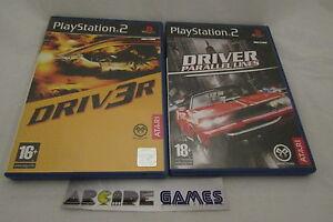 LOT-2-JEUX-PLAYSTATION-PS2-DRIVER-3-DRIV3R-PARALLEL-LINES-complets-envoi-suivi