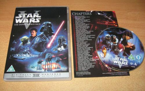 1 of 1 - STAR WARS EPISODE 5 V THE EMPIRE STRIKES BACK DVD UK ORIGINAL REGION 2 PAL VGC