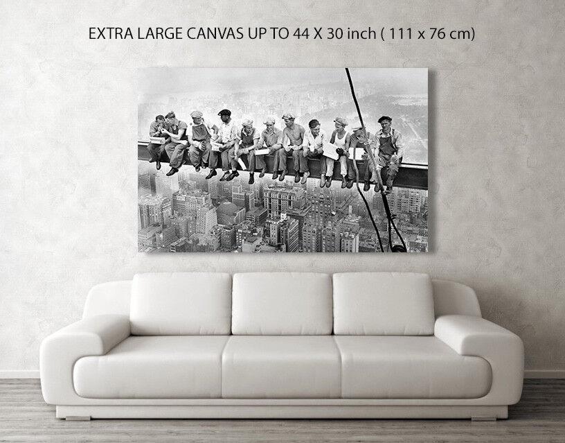 Empire State travailleurs Femmeger Déjeuner toile photo photo photo ou Imprimer A4, A3, A2, A1 A0 32e13b