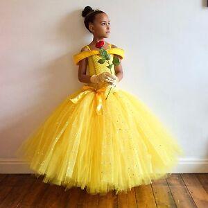 c5401f334e0 Image is loading Girl-039-s-Disney-Princess-Belle-Inspired-Dress-