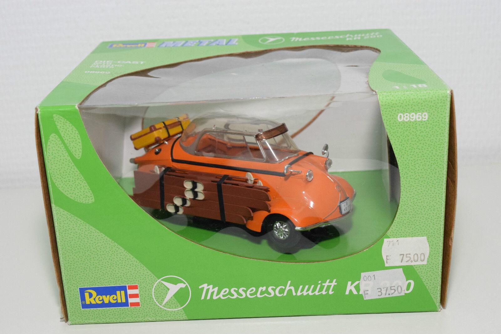 REVELL 1 18 8969 08969 MESSERSCHMITT KR200 KR 200 WITH SKI Orange MINTBOXED RARE