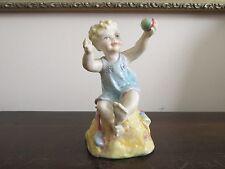 Vintage Royal Worcester England Porcelain Figurine 3256 Sunday's Sabbath Bath
