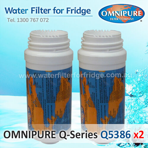 2X Omnipure Q-Series Q5386 Replacement Filter, suits some Fisher&Paykel Fridges