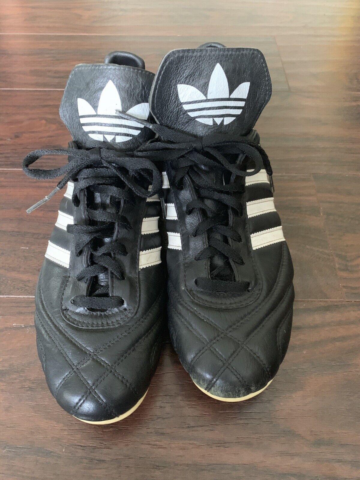 Vintage 90s Adidas Mens 8 Profi Trefoil Copa Leather Soccer shoes Cleats GUC