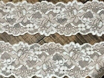"laverslace Pale Cream//Ivory Vintage Cotton Cluny Crochet Lace Trim 2.25/""//5.5cm"
