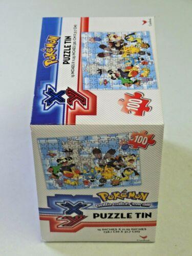 Pokemon Puzzle Tin Poke Ball Tin 100 Piece Jigsaw Puzzle NEW Pokemon X and Y