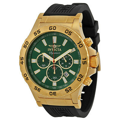Invicta Signature II Ralford Chrono Green Dial Mens Watch 7444