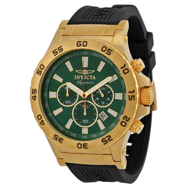 Invicta Signature II Ralford Chrono Green Dial Mens Watch 7444