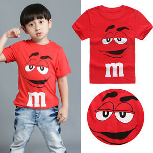 Cartoon-Tee-Kids-Boy-Short-Sleeve-Cotton-T-shirt-Tops-Blouse-2-3-4-5-6-7-Years