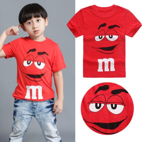 Cartoon Tee Kids Boy Short Sleeve Cotton T-shirt Top Blouse Toddler 2 3 4 5 6 7T