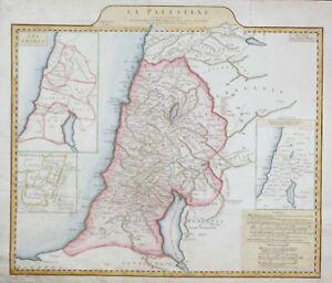 D-039-Anville-039-s-Hand-Colored-Antique-Map-LA-PALESTINE-1767