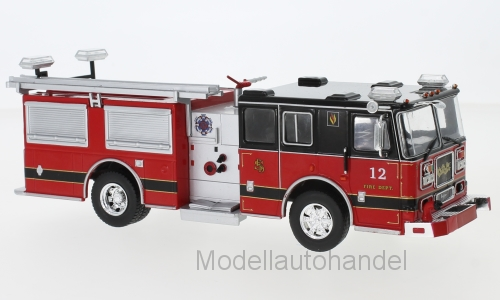 Seagrave Marauder II rosso/nero, Fire Department - 1:43 Ixo * NEW *