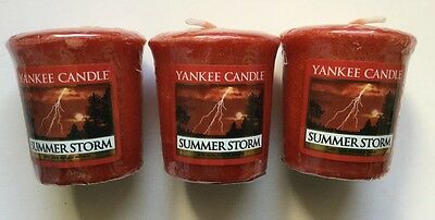 Yankee Candle SUMMER STORM LOT OF 3 WRAPPED VOTIVES HTF ...