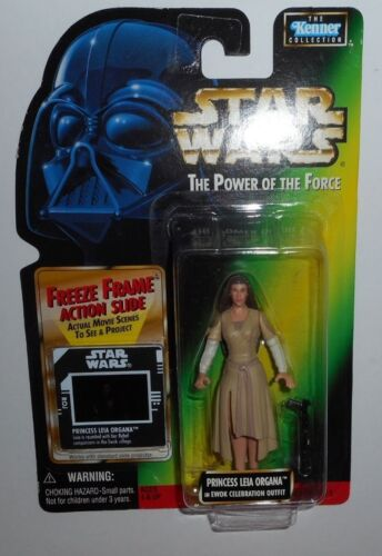 Kenner STAR WARS POTF2 Princess Leia Organa in EWOK Celebration Outfit 1997 NIB