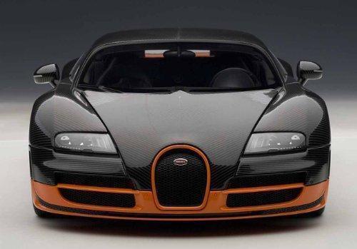 AUTOart Bugatti Veyron Super Sport Carbon Blackorange Side Skirts 70936 |  EBay