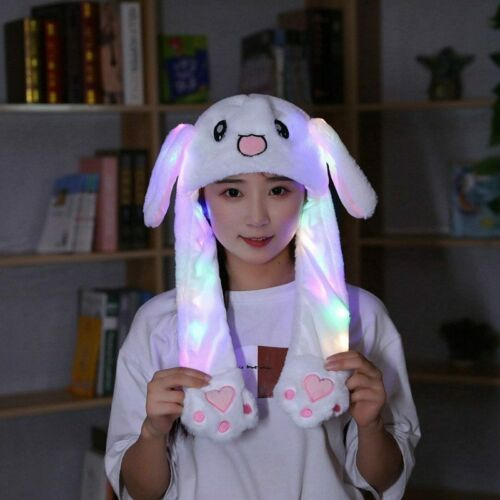 Funny Rabbit Bunny Ear Moving Hat Airbag Cap Soft Plush Cute Hats Toys Gifts