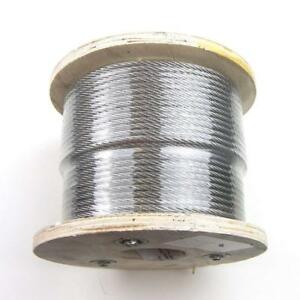 """VEVOR Cable Railing T316 Stainless Steel Wire Rope Cable Strand 1//8/"""" 7x7 500ft"""