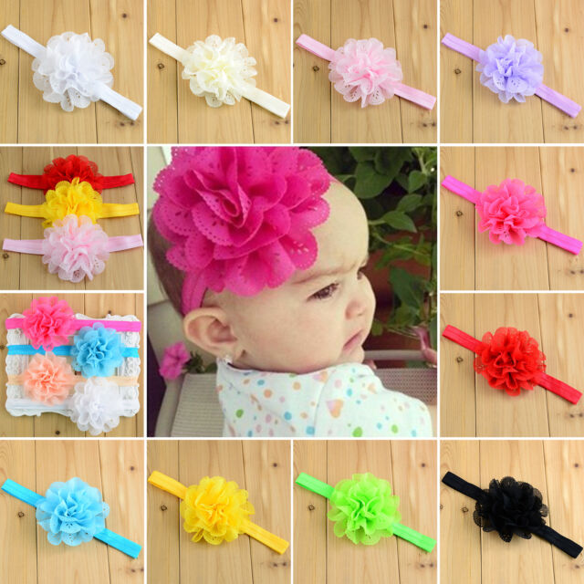 10 Stil Baby Mädchen Blumen Haarband Stirnband Haarschmuck Knoten Headwrap lot