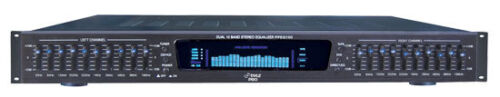 Pyle PPEQ100 19 Inch Rack Mount Dual 10 Band 4 Stereo Graphic Equalizer