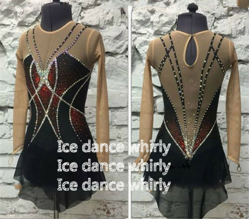A706 New Style Competition Ice Figure Skating Dress For Adults or Girls