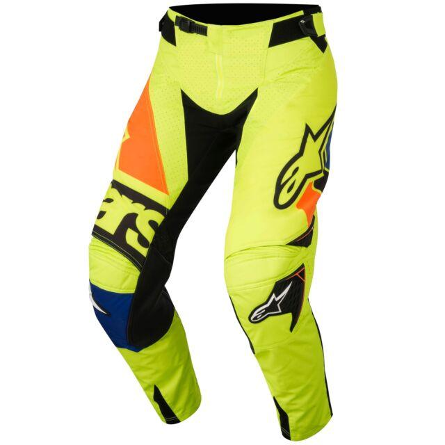 2018 Alpinestars Techstar Factory Black//Blue//Yellow Motocross Gear