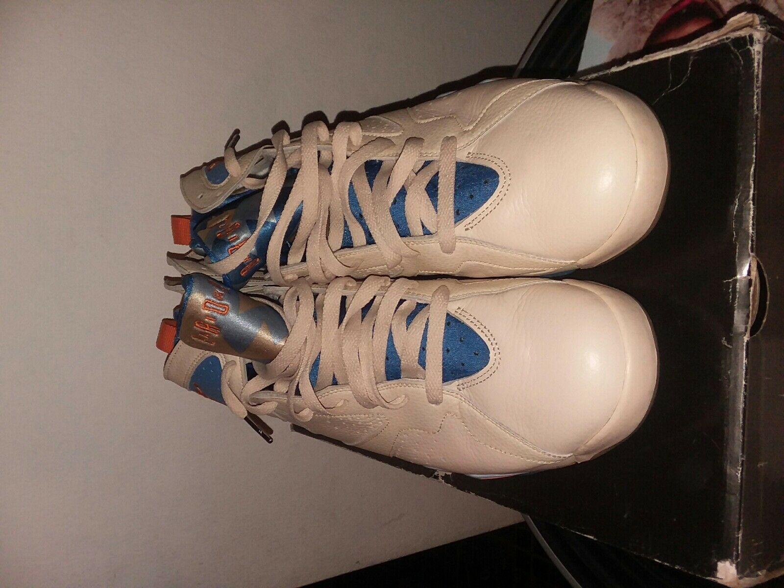Air jorsan 7 retro . Pearl wht/bright cermc-pac blu The most popular shoes for men and women