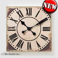 Vintage Shabby Chic Style Distressed Wall Clock - NEW