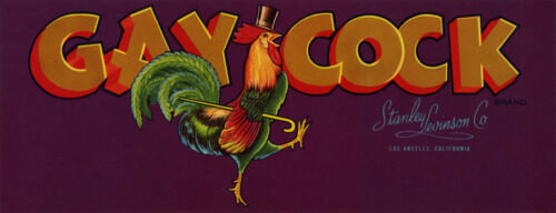 1940/'s Gay Cock Crate Label Refrigerator Magnet