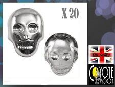 20pcs Skull studs Leather,Punk,Biker,Retro, Jacket,Emo, Gothic Grunge UK Seller