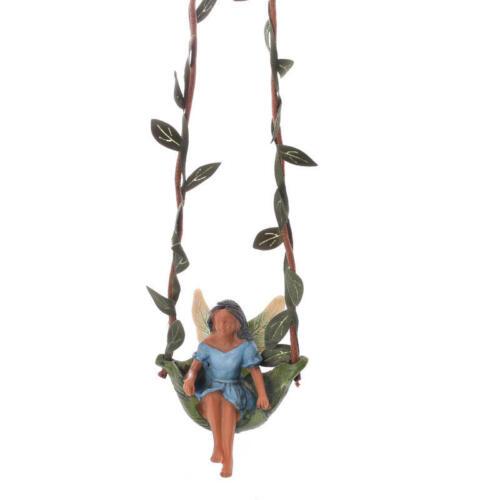 Miniature Swingtime MG 214 Ebony Fairy Swing Metal Hook included Fairy Garden