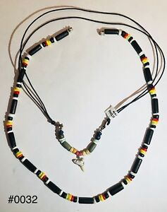 Image Is Loading Shark Tooth Necklace Adjule With One Wooden Beads