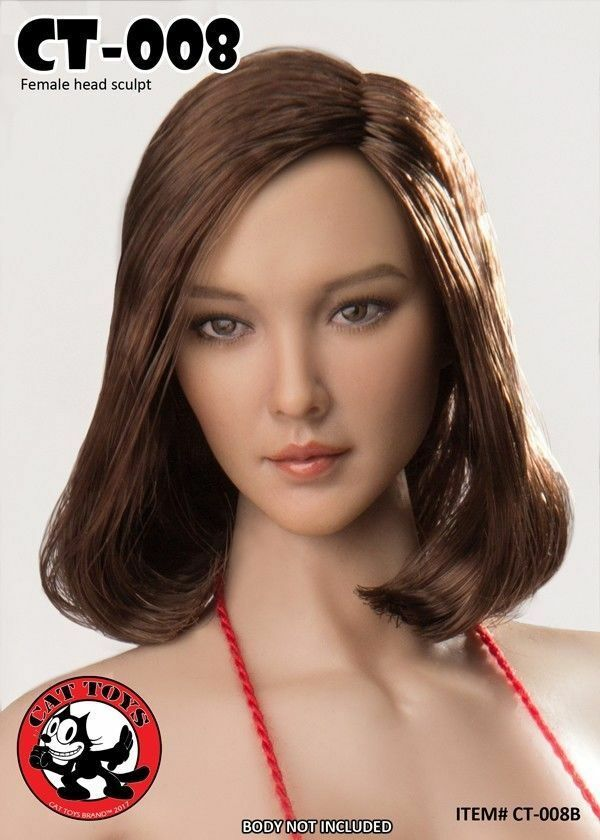 Cat Toys CT008B 1 6 Asian Female Head Sculpt Model Toy Fit 12'' Action Figure