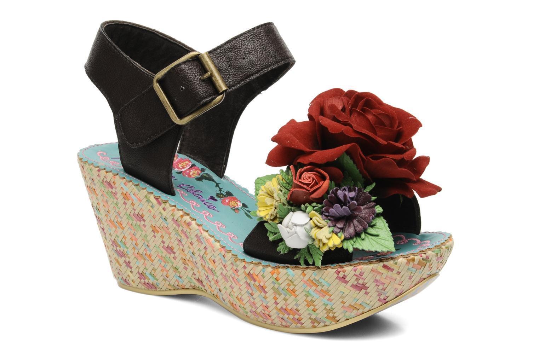 IRREGULAR CHOICE MARY MARTINI SHOES PLATFORM 6.5 PLATFORM SHOES WEDGE RED ROSE FLOWERS WILD b7faf0