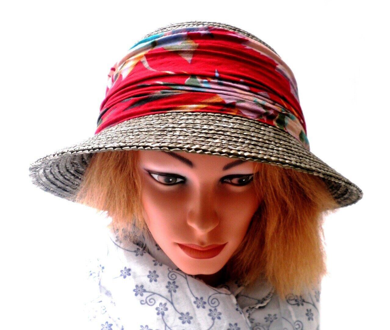 Damen eleganter Strohhut SEEBERGER Farbauswahl Anlasshut Sonnenschutz UV 50+