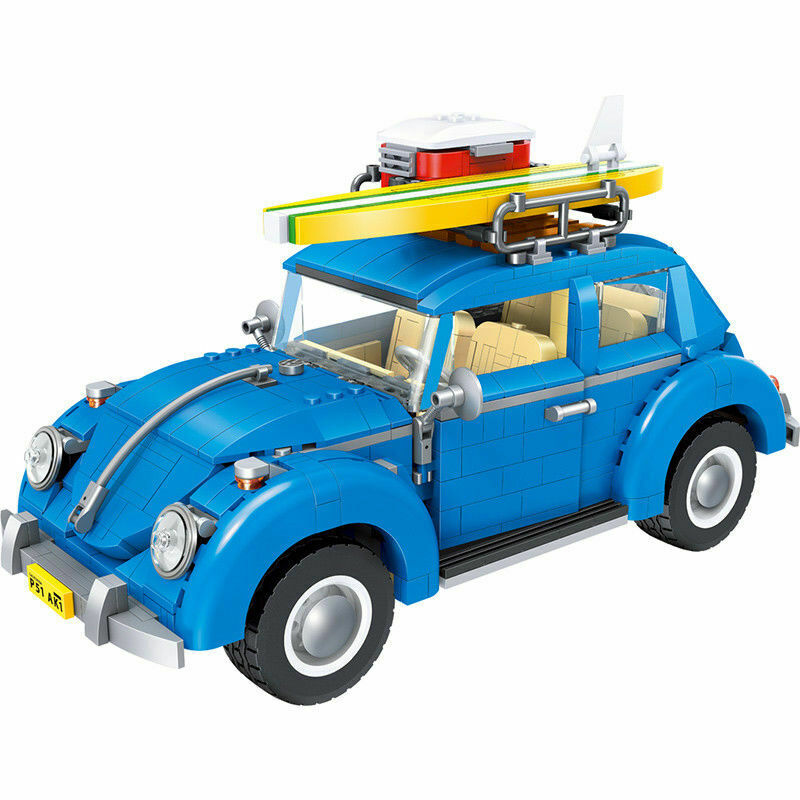 New Volkswagen Beetle CompITibLe Lego 10252 Model + Manual Instruction