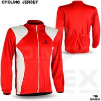 Men Cycling Jersey Jacket Long Sleeve Bike Top Outdoor Sports Wear Shirt NEW