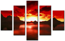 KENYA Red 65x45cm Large  wall art canvas print artwork home living room kitchen