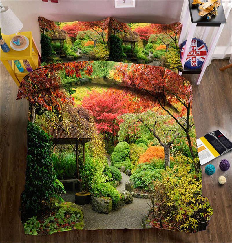 Deepping Autumn 3D Printing Duvet Quilt Doona Covers Pillow Case Bedding Sets